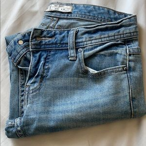 Free people distressed cropped jeans